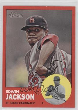 2012 Topps Heritage - [Base] #22.2 - Edwin Jackson (Target Red)
