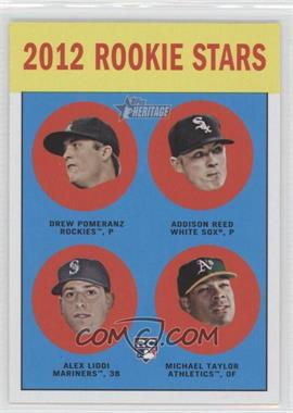 2012 Topps Heritage - [Base] #253 - Drew Pomeranz, Addison Reed, Alex Liddi, Michael Taylor
