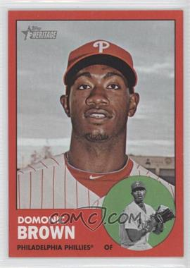2012 Topps Heritage - [Base] #32.2 - Domonic Brown (Target Red)