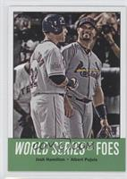 World Series Foes (Josh Hamilton, Albert Pujols)