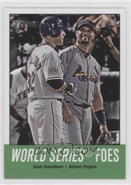 2012 Topps Heritage - [Base] #331 - World Series Foes (Josh Hamilton, Albert Pujols)