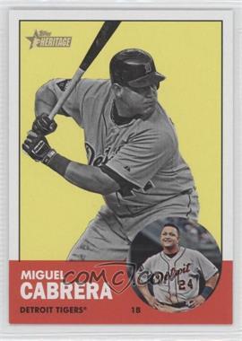 2012 Topps Heritage - [Base] #348.2 - Miguel Cabrera (Image Swap)