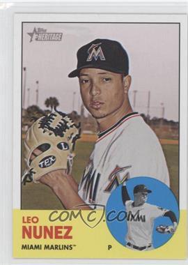 2012 Topps Heritage - [Base] #450 - Leo Nunez