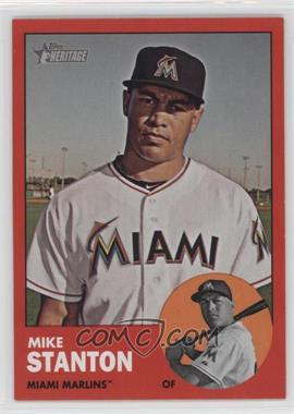 2012 Topps Heritage - [Base] #483.4 - Mike Stanton (Target Red)