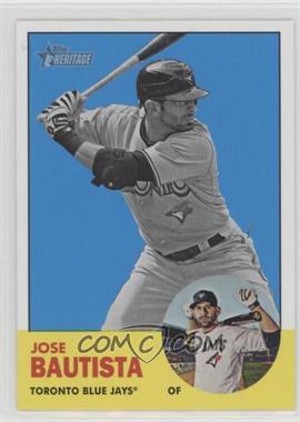 2012 Topps Heritage - [Base] #489.2 - Jose Bautista (Image Swap)