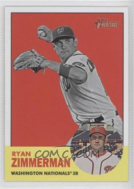 2012 Topps Heritage - [Base] #494.2 - Ryan Zimmerman (Image Swap)