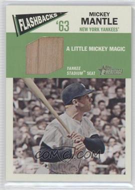 2012 Topps Heritage - Baseball Flashbacks - Stadium Relics #FR-MMA - Mickey Mantle