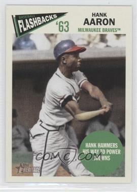 2012 Topps Heritage - Baseball Flashbacks #BF-HA - Hank Aaron