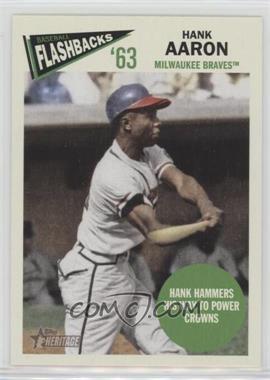 2012 Topps Heritage - Baseball Flashbacks #BF-HA - Hank Aaron