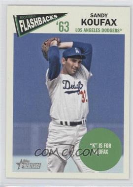 2012 Topps Heritage - Baseball Flashbacks #BF-SKO - Sandy Koufax