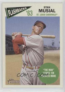 2012 Topps Heritage - Baseball Flashbacks #BF-SM - Stan Musial