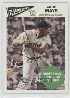 2012 Topps Heritage - Baseball Flashbacks #BF-WM - Willie Mays