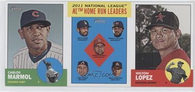 2012 Topps Heritage - Boxloader Ad Panel #CMHRWL - Carlos Marmol, Matt Kemp, Prince Fielder, Albert Pujols, Dan Uggla, Mike Stanton, Wilton Lopez