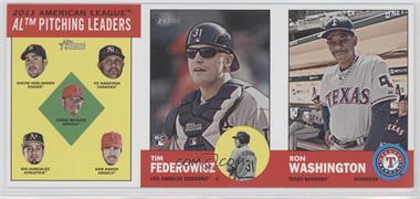 2012 Topps Heritage - Boxloader Ad Panel #PLTMRW - Justin Verlander, C.C. Sabathia, Jered Weaver, Gio Gonzalez, Dan Haren, Tim Federowicz, Ron Washington