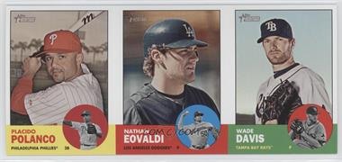 2012 Topps Heritage - Boxloader Ad Panel #PPNEWD - Placido Polanco, Nathan Eovaldi, Wade Davis