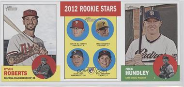 2012 Topps Heritage - Boxloader Ad Panel #RRRSNH - Ryan Roberts, Justin De Fratus, Jared Hughes, Alex Liddi, Kyle Waldrop, Nick Hundley