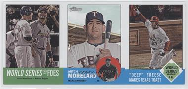 2012 Topps Heritage - Boxloader Ad Panel #WSMMDF - Josh Hamilton, Albert Pujols, Mitch Moreland, David Freese