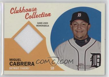 2012 Topps Heritage - Clubhouse Collection Relic #CCR-MC - Miguel Cabrera