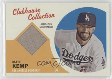 2012 Topps Heritage - Clubhouse Collection Relic #CCR-MK - Matt Kemp