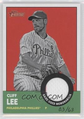2012 Topps Heritage - Clubhouse Collection Relic #ISR-CL - Cliff Lee /63