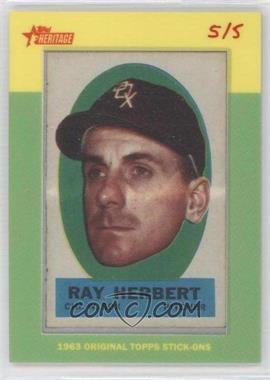2012 Topps Heritage - Framed 1963 Stick-Ons Buybacks #RAHE - Ray Herbert /5