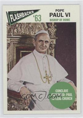 2012 Topps Heritage - News Flashbacks #NF-PP - Pope Paul VI