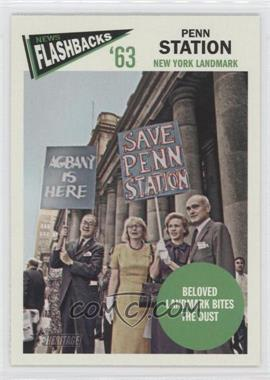 2012 Topps Heritage - News Flashbacks #NF-PS - Penn Station