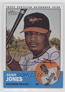 2012 Topps Heritage - Real One Certified Autographs #ROA-AJ - Adam Jones