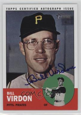 2012 Topps Heritage - Real One Certified Autographs #ROA-BV - Bill Virdon