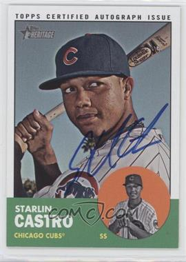 2012 Topps Heritage - Real One Certified Autographs #ROA-SC - Starlin Castro