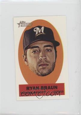 2012 Topps Heritage - Stick-Ons #21 - Ryan Braun