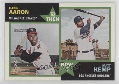 2012 Topps Heritage - Then and Now #TN-AK - Hank Aaron, Matt Kemp