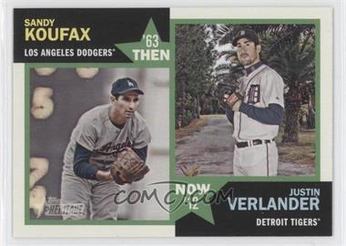 2012 Topps Heritage - Then and Now #TN-KV - Sandy Koufax, Justin Verlander