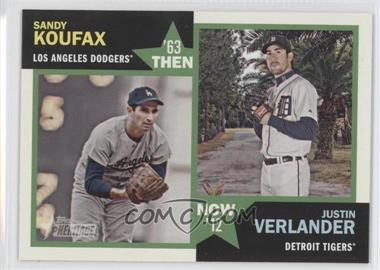 2012 Topps Heritage - Then and Now #TN-KV - Sandy Koufax, Justin Verlander