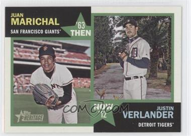 2012 Topps Heritage - Then and Now #TN-MV - Justin Verlander, Juan Marichal