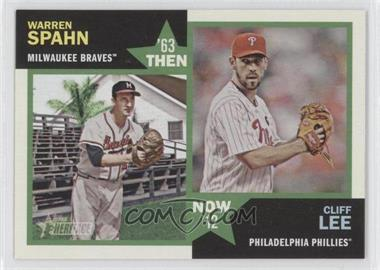 2012 Topps Heritage - Then and Now #TN-SL - Warren Spahn, Cliff Lee