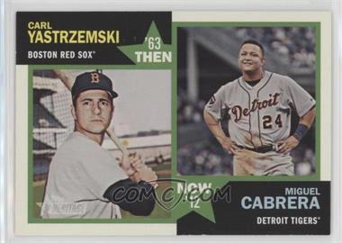 2012 Topps Heritage - Then and Now #TN-YC - Carl Yastrzemski, Miguel Cabrera
