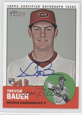 2012 Topps Heritage High Numbers - Real One Certified Autographs #ROA-TB - Trevor Bauer