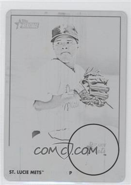 2012 Topps Heritage Minor League Edition - [Base] - Printing Plate Black #125 - Angel Cuan /1