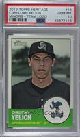 Christian Yelich (Green Background; Hammerheads Logo in Inset) [PSA 10&nbs…
