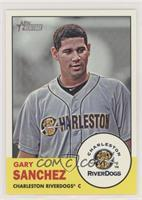 Gary Sanchez (Yellow Background; RiverDogs logo in Inset) [Noted]