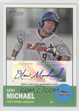 2012 Topps Heritage Minor League Edition - Real One Autographs - [Autographed] #ROA-LM - Levi Michael
