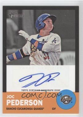 2012 Topps Heritage Minor League Edition - Real One Autographs - Black Border [Autographed] #ROA-JP - Joc Pederson /50