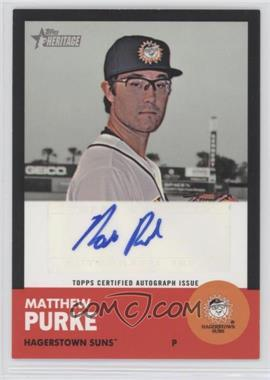 2012 Topps Heritage Minor League Edition - Real One Autographs - Black Border [Autographed] #ROA-MP - Matt Purke /50