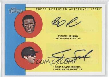 2012 Topps Heritage Minor League Edition - Real One Dual Autographs - [Autographed] #ROD-LS - Rymer Liriano, Cory Spangenberg /15