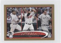 Jim Thome, Jason Giambi, Alex Rodriguez /61