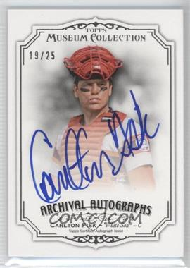 2012 Topps Museum Collection - Archival Autographs - [Autographed] #AA-CF - Carlton Fisk /25