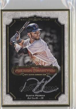 2012 Topps Museum Collection - Framed On-Card Autographs - Gold [Autographed] #MCA-DPE - Dustin Pedroia /15