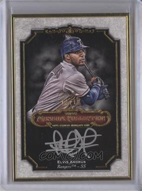 2012 Topps Museum Collection - Framed On-Card Autographs - Gold [Autographed] #MCA-EA - Elvis Andrus /15