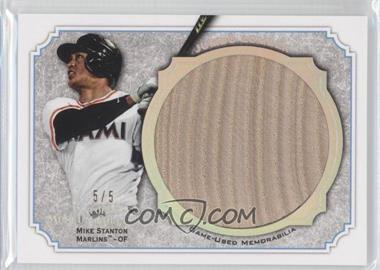 2012 Topps Museum Collection - Jumbo Lumber Relics - Silver Rainbow #MMJLR-MS - Giancarlo Stanton /5